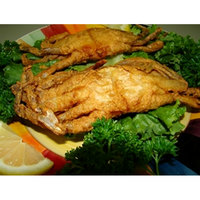 Linton's Seafood 5 3/4 inch Jumbo Soft Shell Blue Crabs - 24/Case