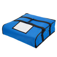 Choice Insulated Deli Tray / Party Platter Bag, Blue Nylon, 18 inch x 18 inch x 5 inch