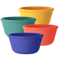 GET RM-401-MIX 4 oz. Assorted Colors Fluted Melamine Ramekin   - 48/Case