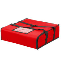 Choice Insulated Deli Tray / Party Platter Bag, Red Nylon, 18 inch x 18 inch x 5 inch