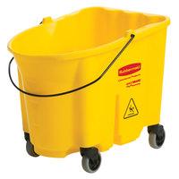 Rubbermaid FG757088YEL WaveBrake® 35 Qt. Yellow Mop Bucket