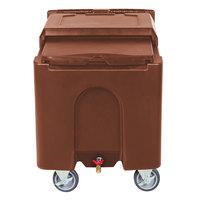 Choice 125 lb. Brown Mobile Ice Bin