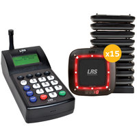 LRS Connect Pro Guest Paging System 15 Pager Kit with Connect Transmitter