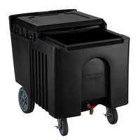 Choice 125 lb. Black Mobile Ice Bin