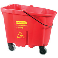 Rubbermaid FG757088RED WaveBrake® 35 Qt. Red Mop Bucket
