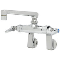 T&S B-0235-01 Wall Mounted Pantry Faucet with Adjustable Centers, 6 inch Cast Swing Spout, and Eterna Cartridges