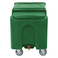Choice 125 lb. Green Mobile Ice Bin