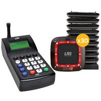 LRS Connect Pro Guest Paging System 30 Pager Kit with Connect Transmitter