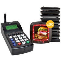 LRS NOTE Guest Paging System 30 Pager Kit with Connect Transmitter
