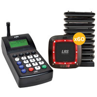 LRS Connect Pro Guest Paging System 60 Pager Kit with Connect Transmitter