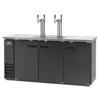 Arctic Air ADD72R-2 Black 2 Double Tap Kegerator Beer Dispenser - (4) 1/2 Keg Capacity