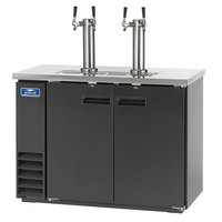Arctic Air ADD48R-2 Black 2 Double Tap Kegerator Beer Dispenser - (2) 1/2 Keg Capacity