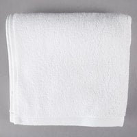 Hotel Hand Towel - Oxford Platinum 16 inch x 30 inch 100% Ringspun 2-Ply Cotton with Dobby Twill Border 4.5 lb. - 120/Case