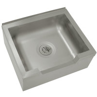 Advance Tabco 9-OP-40-DF 25 inch x 21 inch x 16 inch Floor Mounted Mop Sink with Notched Front