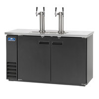 Arctic Air ADD60R-2 Black 2 Double Tap Kegerator Beer Dispenser - (2) 1/2 Keg Capacity
