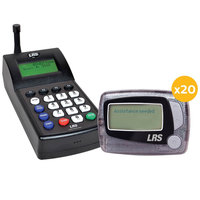 LRS Staff Messaging Paging System 20 Pager Kit with Connect Transmitter