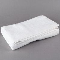 Oxford Platinum 27 inch x 54 inch 100% Ringspun 2-Ply Cotton Bath Towel with Dobby Twill Border 15 lb. - 36/Case
