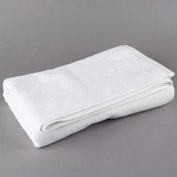 Oxford Platinum 27 inch x 54 inch 100% Ringspun 2-Ply Cotton Bath Towel with Dobby Twill Border 15 lb. - 12/Pack
