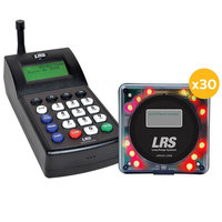 LRS Guest Messaging Paging System 30 Pager Kit with Connect Transmitter