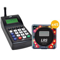 LRS Guest Messaging Paging System 45 Pager Kit with Connect Transmitter
