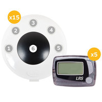 LRS Pronto Six Button Push-For-Service System with 15 Push-Button Transmitters and 5 Staff Messaging Pagers