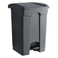 Lavex Janitorial 12 Gallon Gray Rectangular Step-On Trash Can