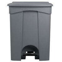 Lavex Janitorial 23 Gallon Gray Rectangular Step-On Trash Can