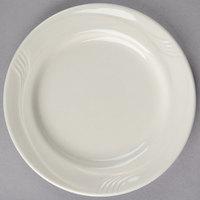 Oneida F1040000117 Espree 6 1/4 inch Cream White China Plate   - 36/Case