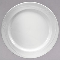 Oneida F1040000125 Espree 7 1/4 inch Cream White China Plate   - 36/Case