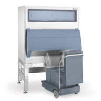 Follett DEV1325SG-60-75 60 inch Ice Storage Bin with 75 lb. Ice Cart - 1325 lb.