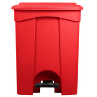 Lavex Janitorial 12 Gallon Red Rectangular Step-On Trash Can