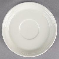 Oneida F1040000502 Espree 6 inch Cream White China Odyssey Saucer - 36/Case
