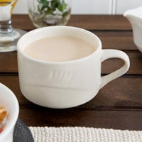 Oneida F1040000530 Espree 9 oz. Stackable Cream White China Odyssey Cup   - 36/Case