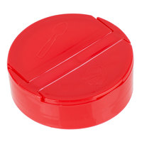 Choice Red Dual-Flapper Pour / Shake Spice Container Lid with a 63/485 Finish