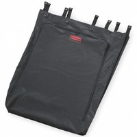 Rubbermaid FG635000BLA Executive 30 Gallon Black Linen Hamper Bag