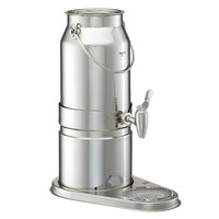 Frilich EMC050E 5.2 Qt. Stainless Steel Milk Dispenser Set with Stainless Steel Base