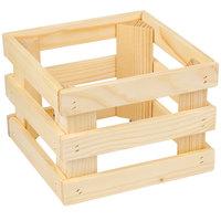 Frilich 5ST054 9 inch x 9 inch x 6 11/16 inch Square Untreated Wood Display Frame / Riser