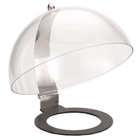 Frilich NB001E Round Clear Polycarbonate Hinged Dome Cover - 15 11/16 inch x 12 3/16 inch