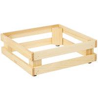 Frilich 5ST052 13 inch x 13 inch x 4 1/8 inch Square Untreated Wood Display Frame / Riser