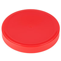 Choice Red Spice Container Lid with a 110/400 Finish