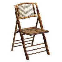 Flash Furniture X-62111-BAM-GG American Champion Bamboo Folding Chair