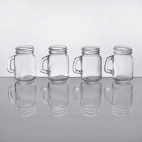 Core by Acopa 4.75 oz. Mini Mason Jar with Handle   - 4/Case