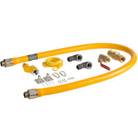 Regency 60 inch Mobile Gas Connector Hose Kit with 2 Elbows, Full Port Valve, Restraining Device, Quick Disconnect, and Swivel Connector - 3/4 inch