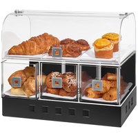 Rosseto BD142 Acrylic Bakery Case with Matte Black Stainless Steel Base