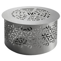 Rosseto SM272 Iris 16 inch x 9 inch Round Brushed Stainless Steel Warmer Stand with Removable Grill