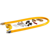 Regency 48 inch Mobile Gas Connector Hose Kit with 2 Elbows, Full Port Valve, Restraining Device, and Quick Disconnect - 1/2 inch