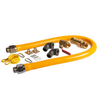 Regency 48 inch Mobile Gas Connector Hose Kit with 2 Elbows, Full Port Valve, Restraining Device, and Quick Disconnect - 1 inch