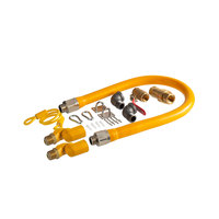 Regency 36 inch Mobile Gas Connector Hose Kit with 2 Elbows, Full Port Valve, Restraining Device, Quick Disconnect, and 2 Swivel Connectors - 3/4 inch