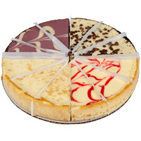 Pellman 37 oz. 9 inch Pre-Cut Cheesecake Selects Variety Pack - 6/Case