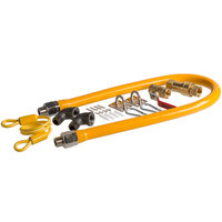 Regency 36 inch Mobile Gas Connector Hose Kit with 2 Elbows, Full Port Valve, Restraining Device, and Quick Disconnect - 1/2 inch